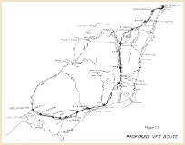 VFT route map from June 1987 pre-feasibility report